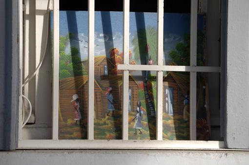 photo: peinture planche: ville